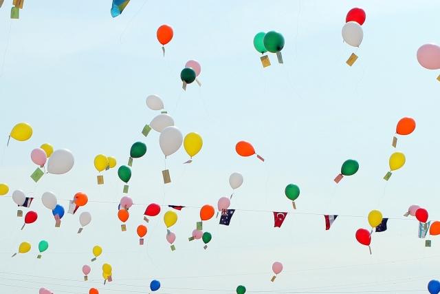 たくさんの風船